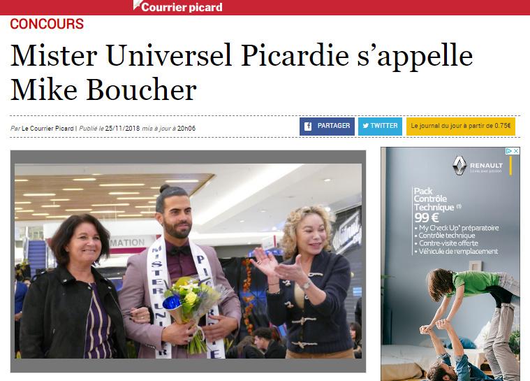 Mister France Picardie est Mike Boucher