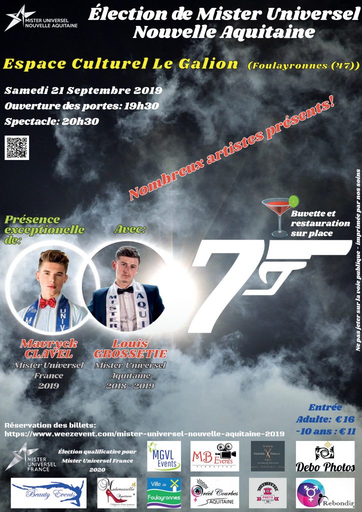 Mister Nouvelle Aquitaine 2019 MUF